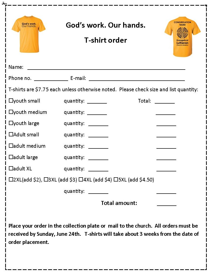 Gods-Work-Our-Hands-t-shirt-order-2018 T Shirt Order Form Doc on sweater order form, green order form, uniform shirt order form, belt order form, poster order form, t shirt quote form, toy order form, work shirt order form, gift order form, jacket order form, logo order form, shirt size form, design order form, clothing order form, shirt apparel order form, camera order form, employee uniform request form, hooded sweatshirt order form, book order form, polo shirt order form,